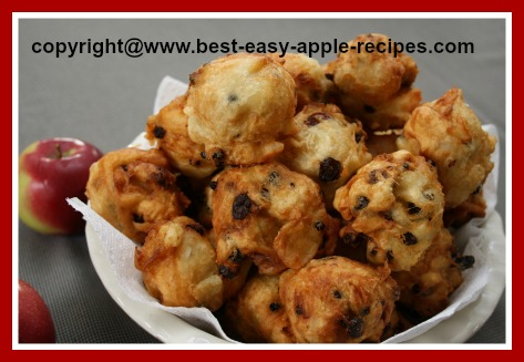 Recipe for Apple Fritters with Raisins