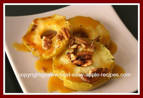 Recipe for Grilled Fruit Apple Dessert with Caramel