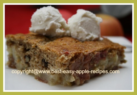 Rhubarb Apple Cobbler