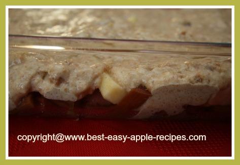 Rhubarb Apple Cobbler Homemade