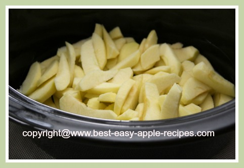 Sliced Apples for Slow Cooker/Crockpot Apple Dessert