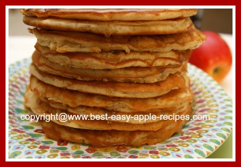 Stack of Best Homemade Apple Pancakes