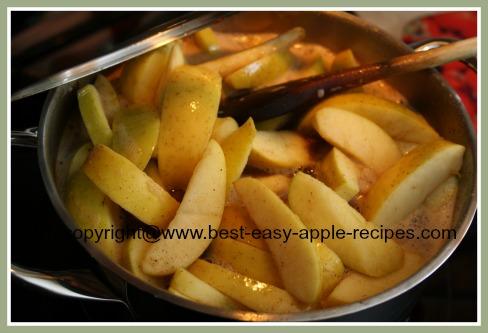 Making Stewed Apples