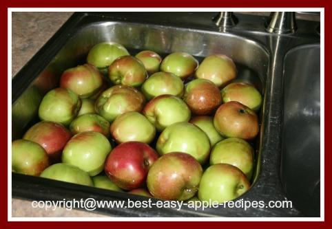 Washing Apples Before Making Applesauce
