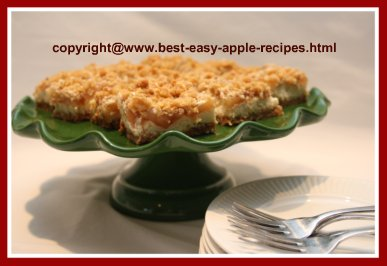 Homemade Apple Cheesecake Bar or Squares using Canned Apple Pie Filling