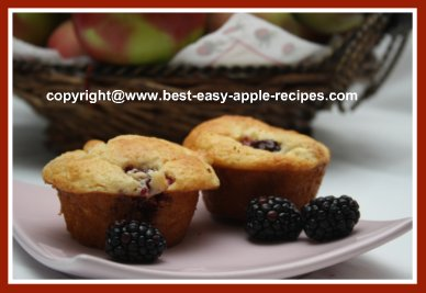 Blackberry Muffins Recipe with Apples