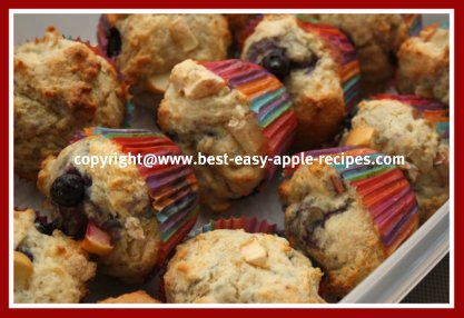Blueberry Apple Muffins Easy Recipe
