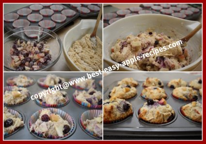 Blueberry Apple Muffins How to Make