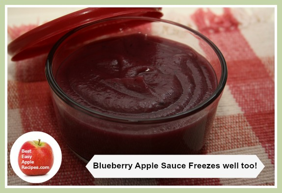 Freezing Homemade Fruit Sauce - Apples and Blueberry Sauce