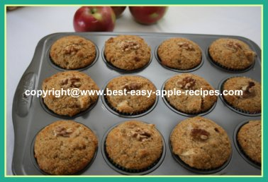 Healthy Apple Muffins Whole Wheat