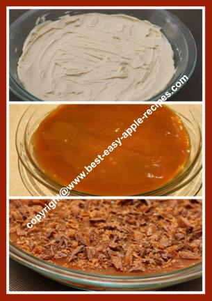 Making Best Apple Dip with Cream Cheese Caramel and Skor