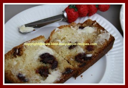 Apple Cranberry Bread Slice