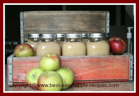 Canned Applesauce in Canning Jars