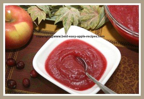 Apple Cranberry Sauce Recipe