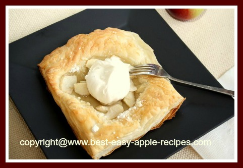 Easiest Ever Apple Puff Pastry Tart Recipe