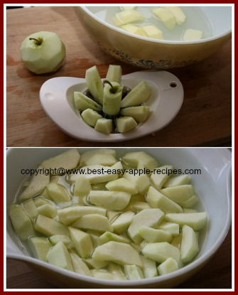 Freezing Apples Using Lemon Juice to Keep them from browning