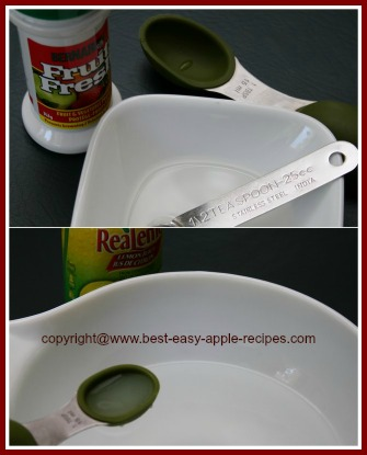 Fruit Fresh or Lemon Juice to Keep Apples from Browning