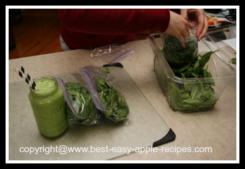 Green Smoothie Making Tip How to Freeze Spinach