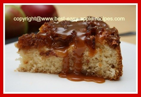 Homemade Apple Cake with a Toffee Sauce