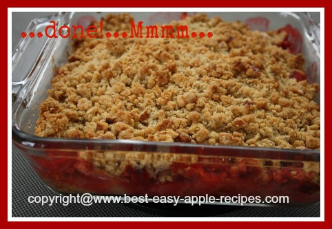 Homemade Apple Strawberry Crumble