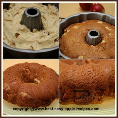 Homemade Sour Cream Apple Cake