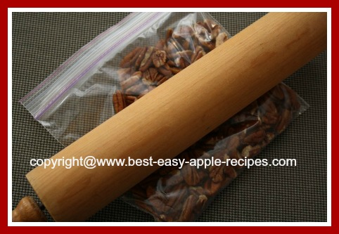 TIP - How to chop whole or half pecans without a blender