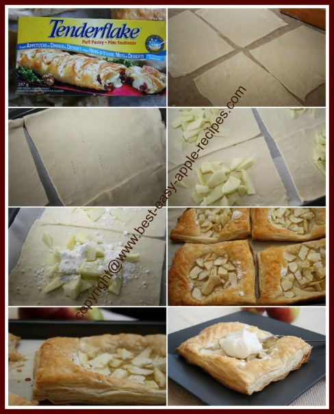 How to Make Apple Puff Pastry Tarts with Purchased Pastry