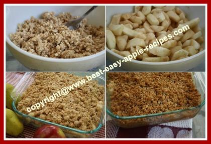 How to make Homemade Apple Pear Crisp
