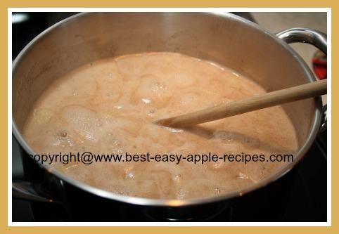 Making Apple Soup