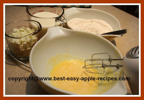 Pancake Batter How to Make Pancakes with Apples