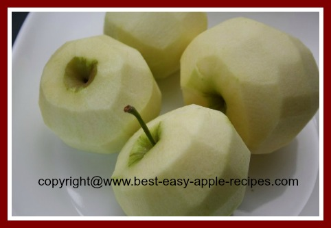 Peel Apples to Freeze