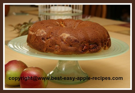 Sour Cream Apple Cake Recipe in a Bundt Pan