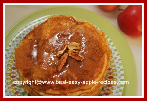 Yummy Apple Pancakes with Pecan Nuts